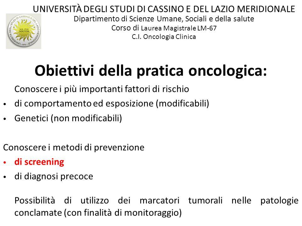 Obiettivi della pratica oncologica: