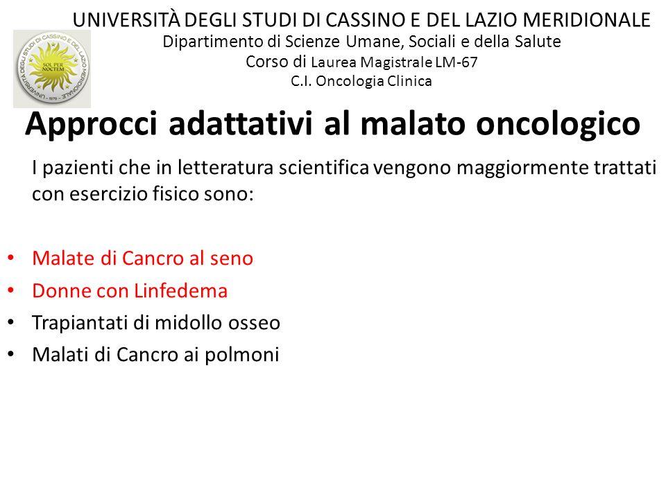 Approcci adattativi al malato oncologico