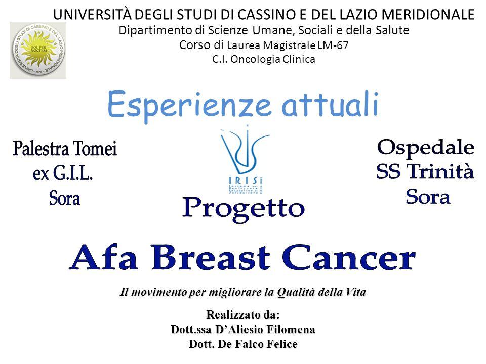 Esperienze attuali Palestra Tomei Ospedale ex G.I.L. SS Trinità Sora