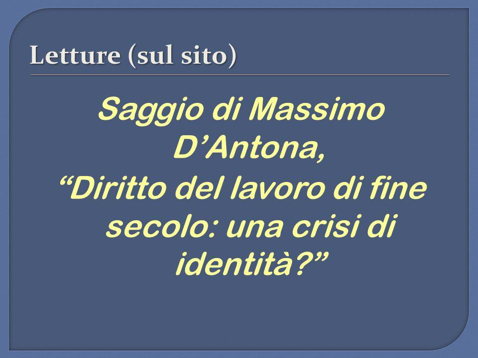 Saggio di Massimo D'Antona,