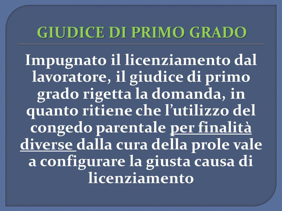 GIUDICE DI PRIMO GRADO