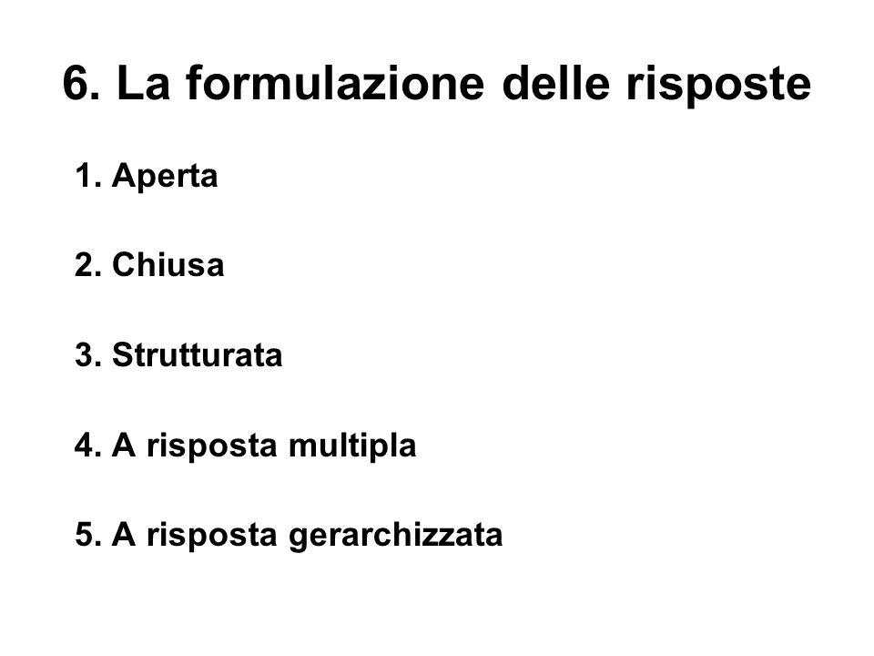 6. La formulazione delle risposte
