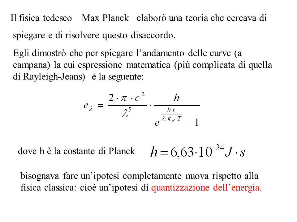 Il fisica tedesco Max Planck. elaborò una teoria che cercava di. spiegare e di risolvere questo disaccordo.