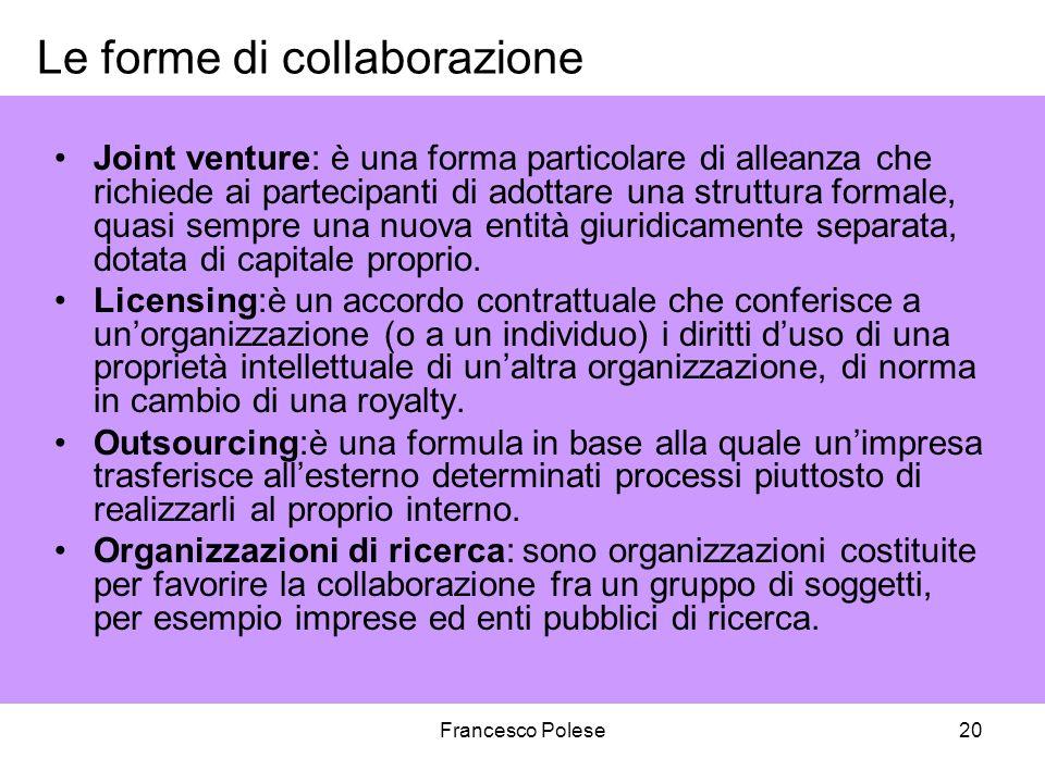 Le forme di collaborazione