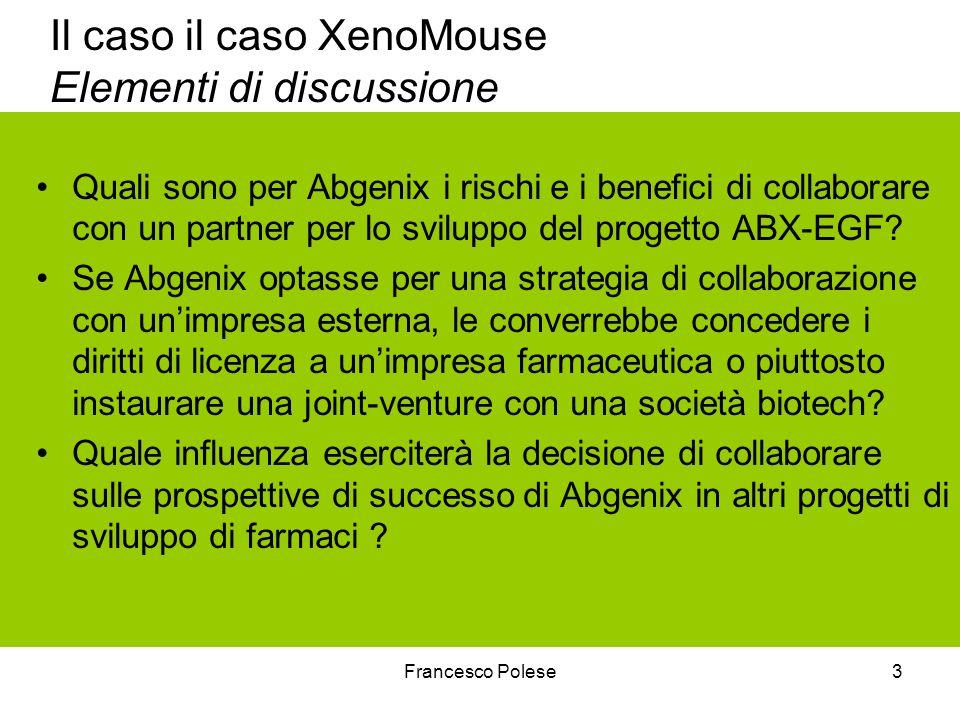 Il caso il caso XenoMouse Elementi di discussione