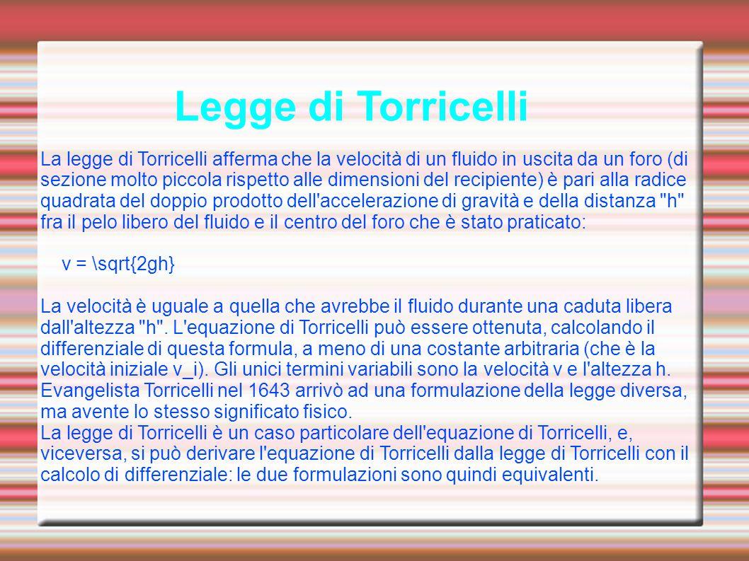 Legge di Torricelli