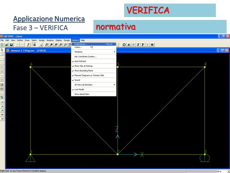 VERIFICA Applicazione Numerica Fase 3 – VERIFICA normativa
