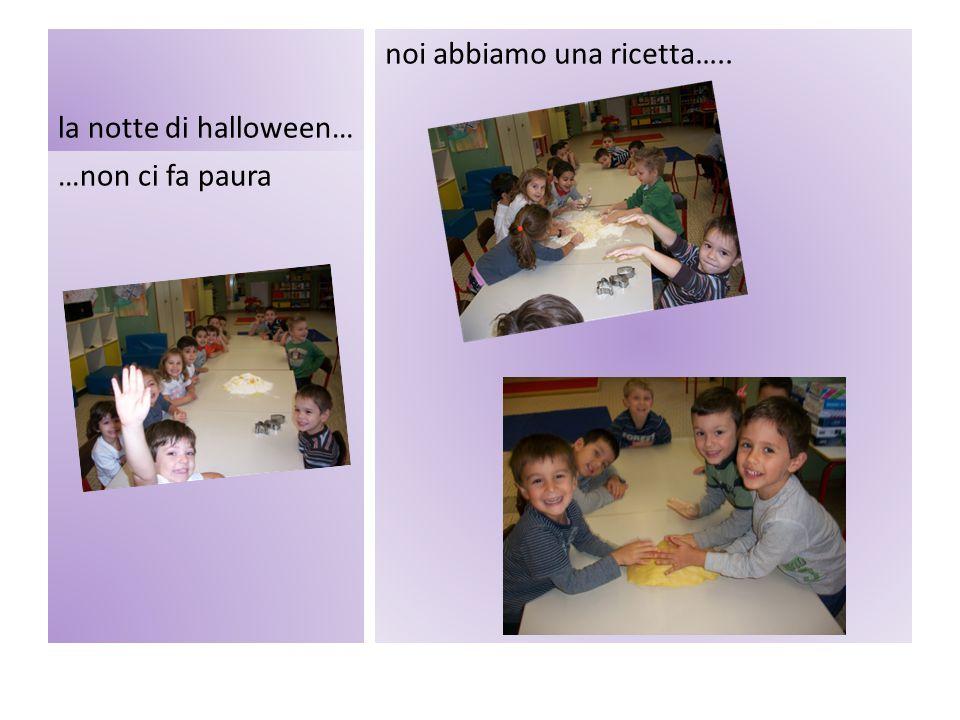 la notte di halloween… noi abbiamo una ricetta….. …non ci fa paura
