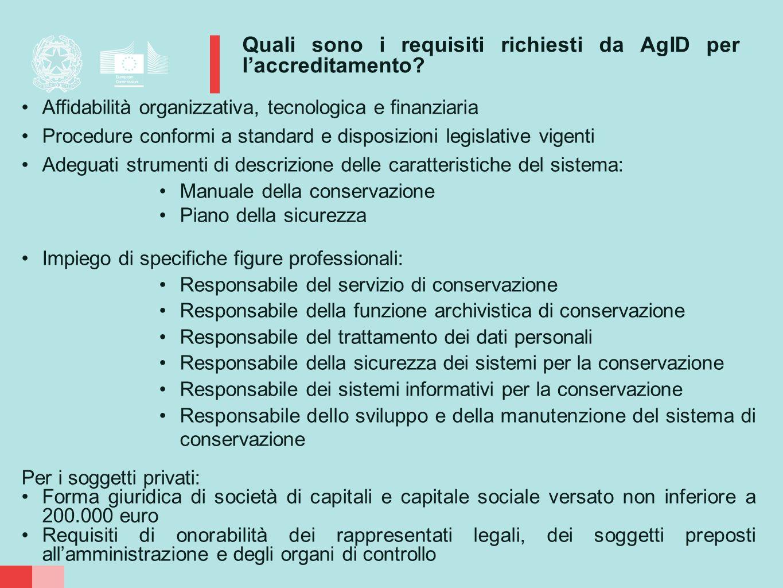 Quali sono i requisiti richiesti da AgID per l'accreditamento