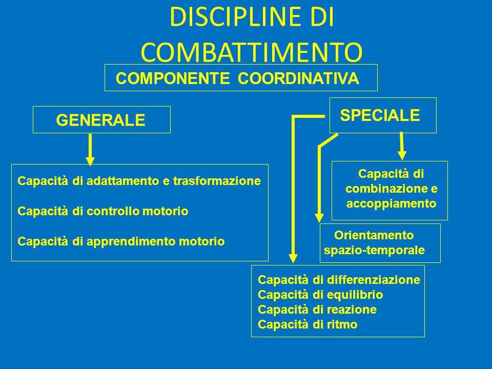 Capacità di combinazione e accoppiamento Orientamento spazio-temporale