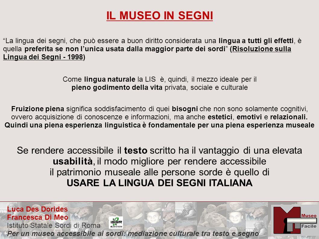 USARE LA LINGUA DEI SEGNI ITALIANA