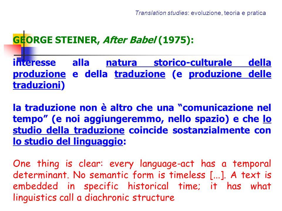 Translation studies: evoluzione, teoria e pratica