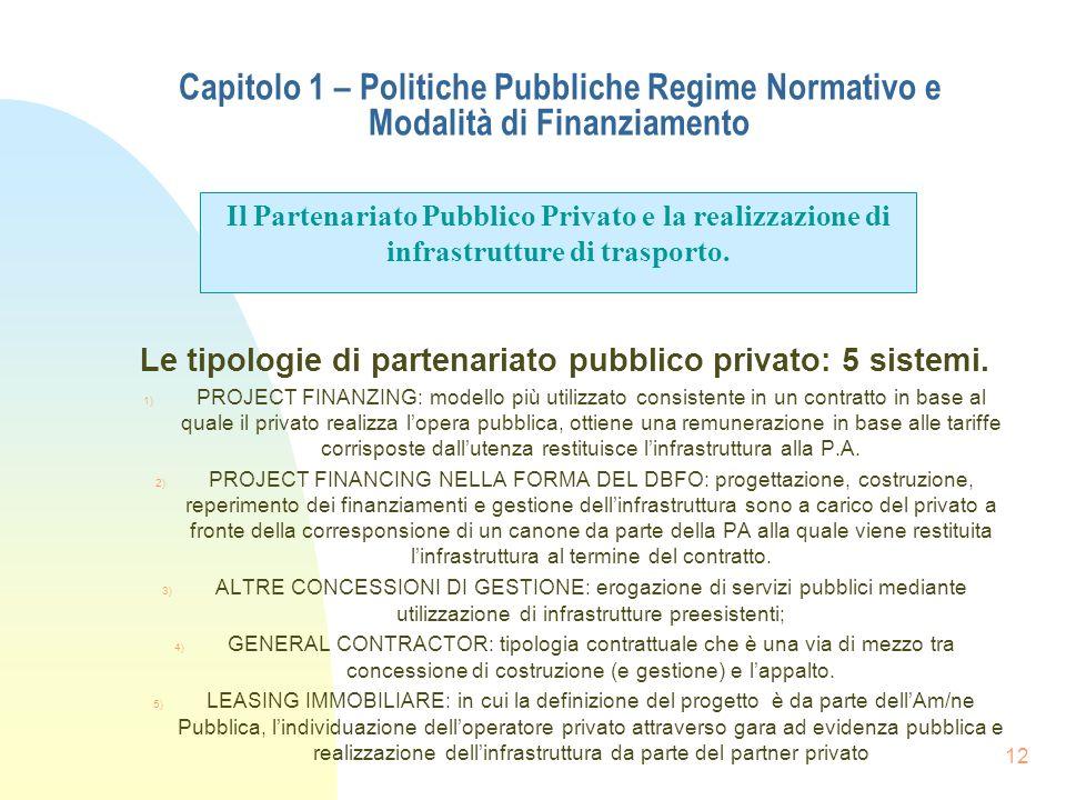 Le tipologie di partenariato pubblico privato: 5 sistemi.