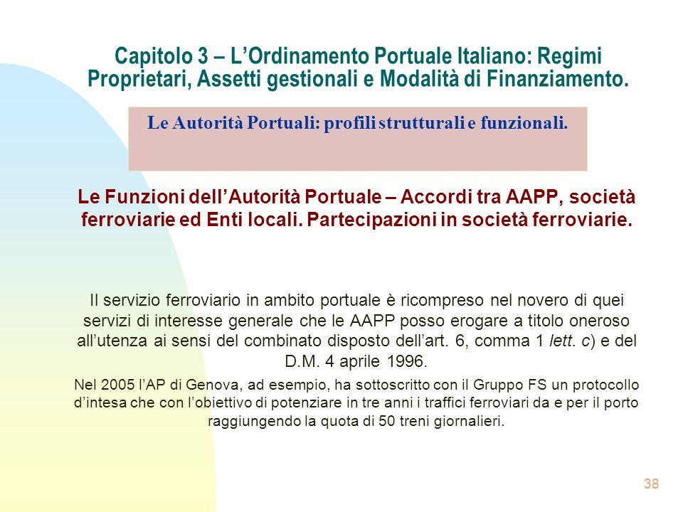 Le Autorità Portuali: profili strutturali e funzionali.
