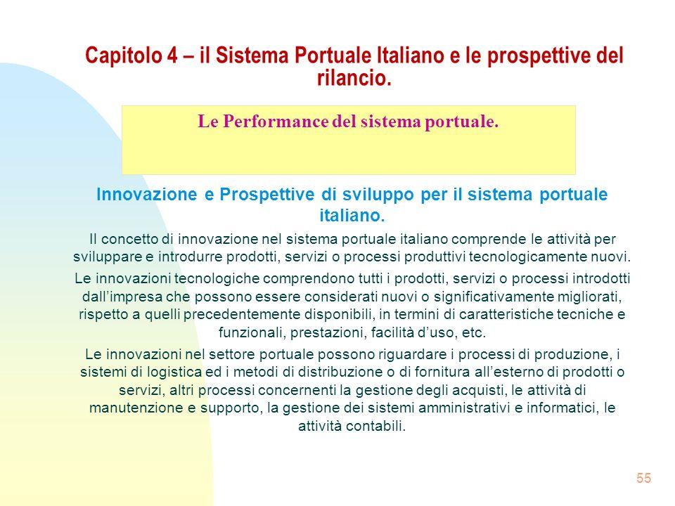 Le Performance del sistema portuale.