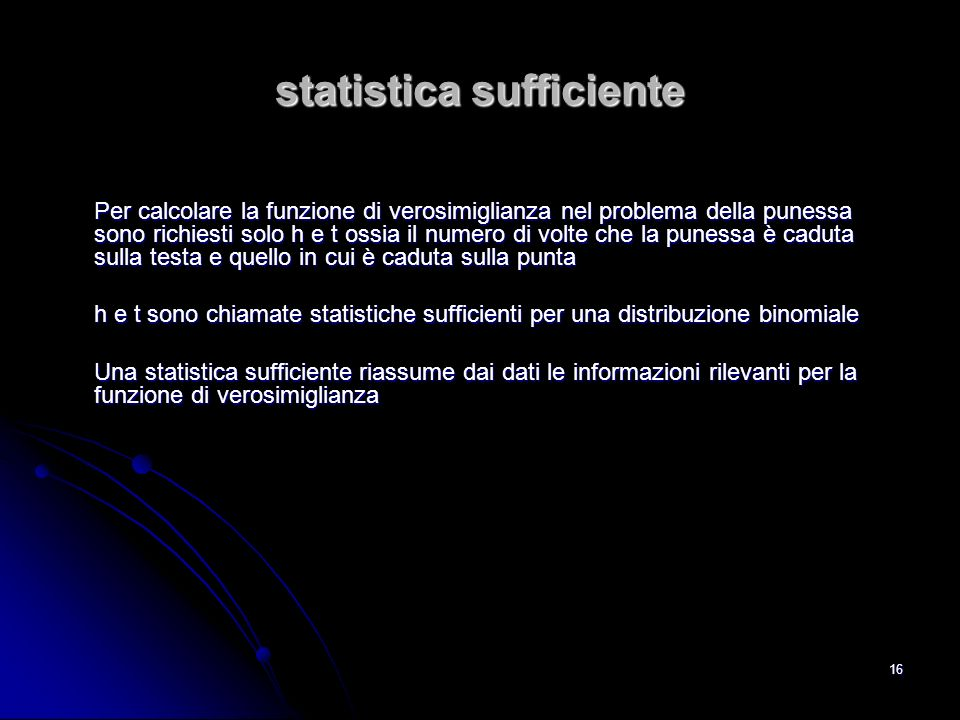 statistica sufficiente