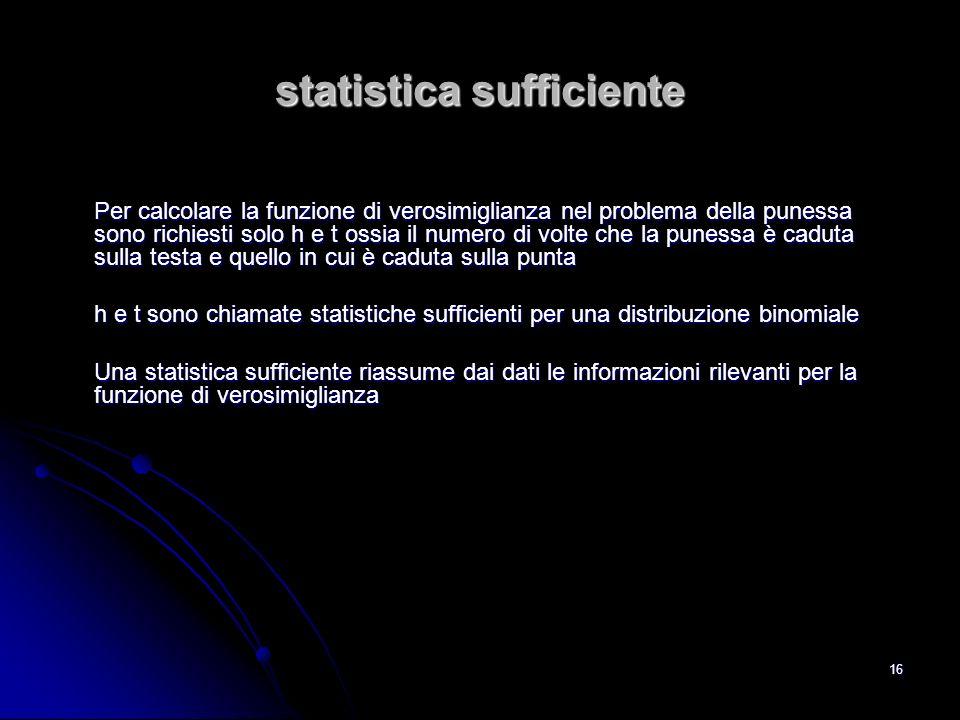 statistica sufficiente
