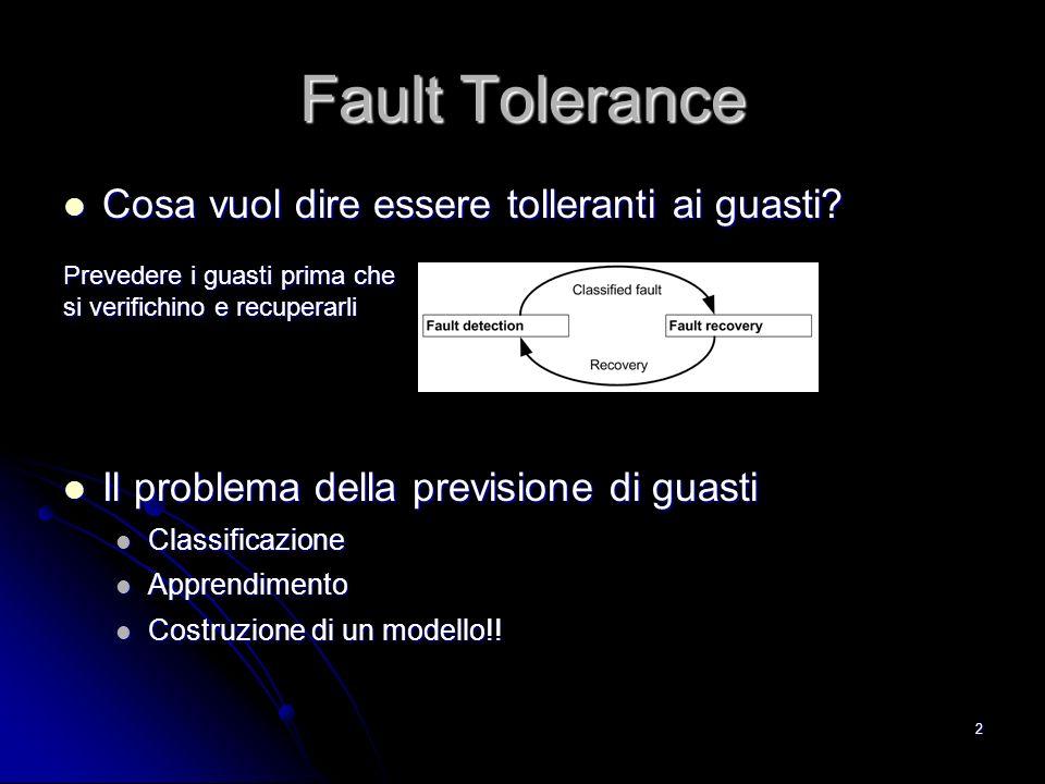 Fault Tolerance Cosa vuol dire essere tolleranti ai guasti