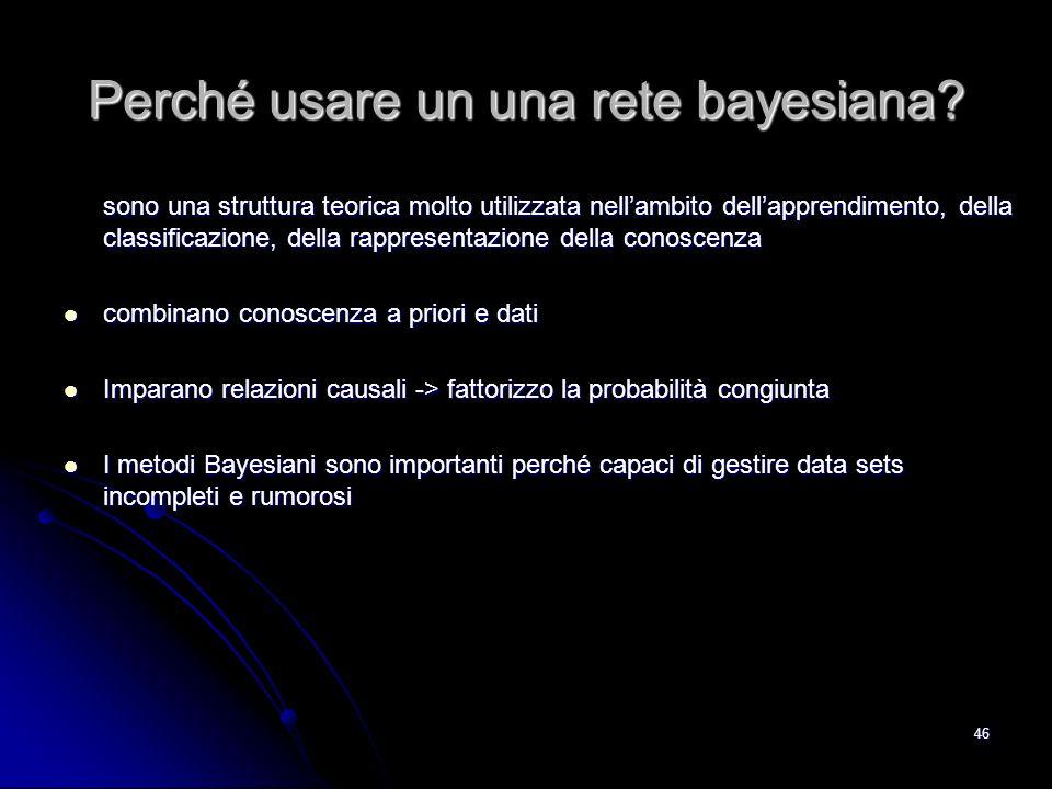 Perché usare un una rete bayesiana