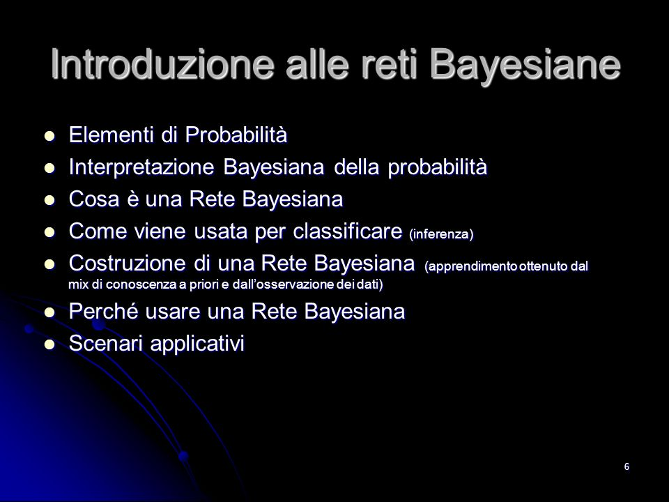 Introduzione alle reti Bayesiane