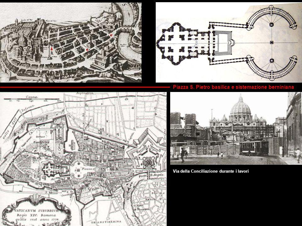 Piazza S. Pietro basilica e sistemazione berniniana
