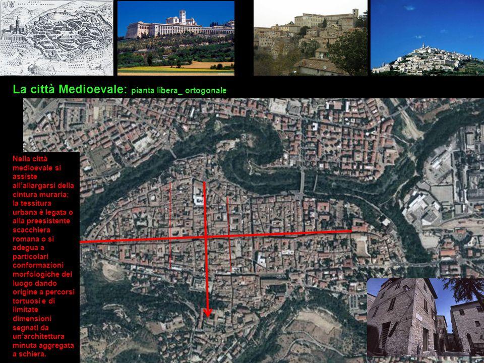 La città Medioevale: pianta libera_ ortogonale