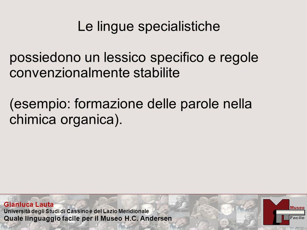 Le lingue specialistiche