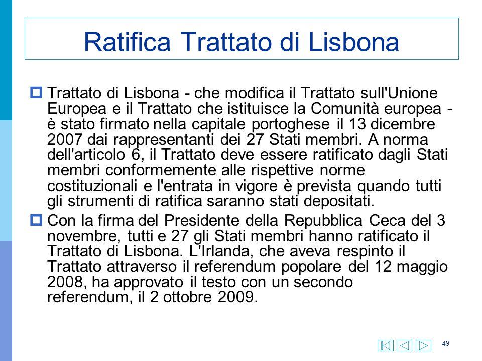 Ratifica Trattato di Lisbona