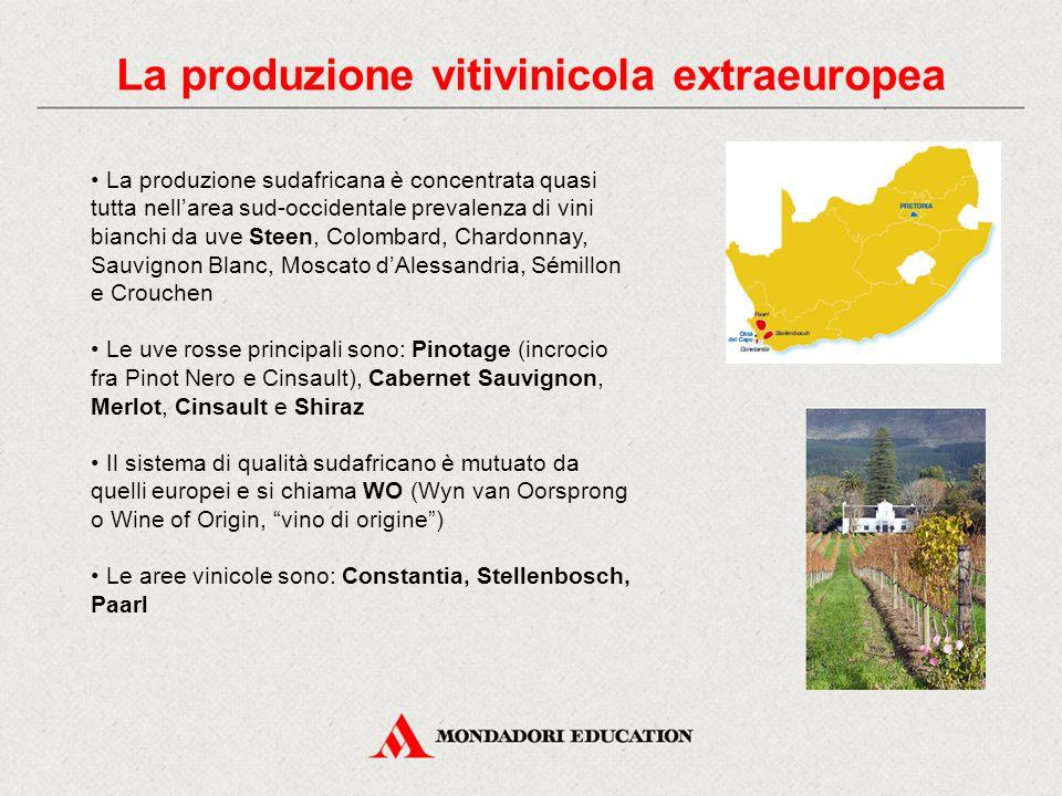 La produzione vitivinicola extraeuropea