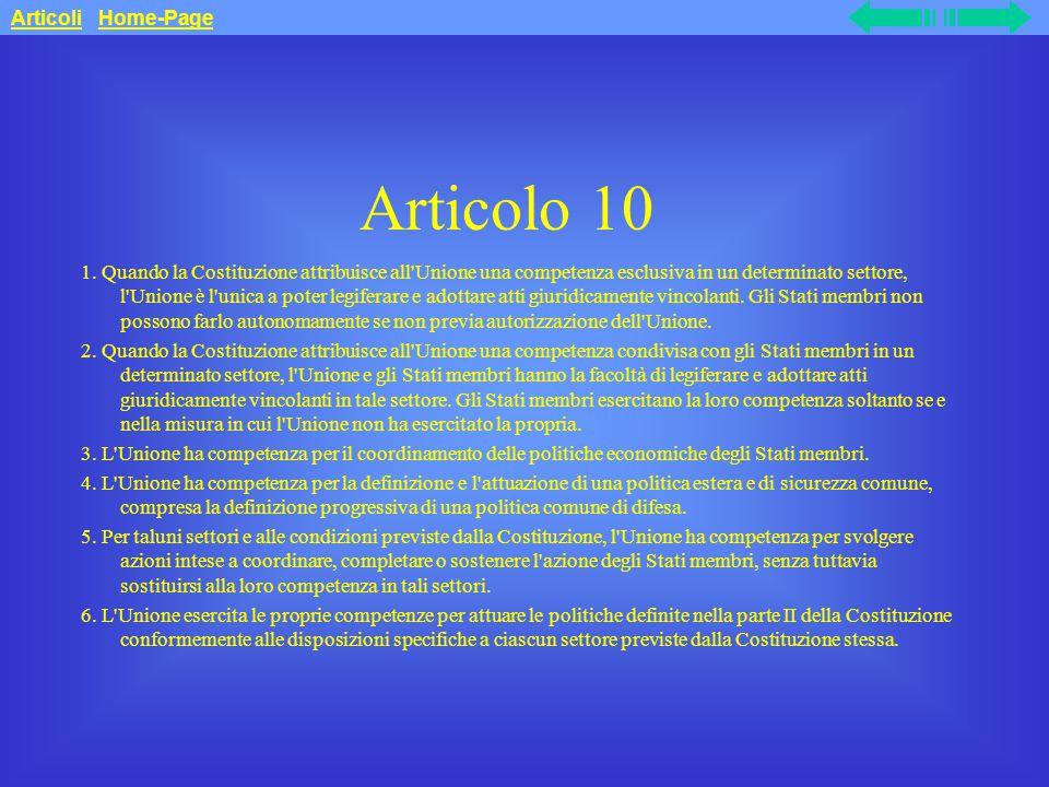 Articolo 10 Articoli Home-Page