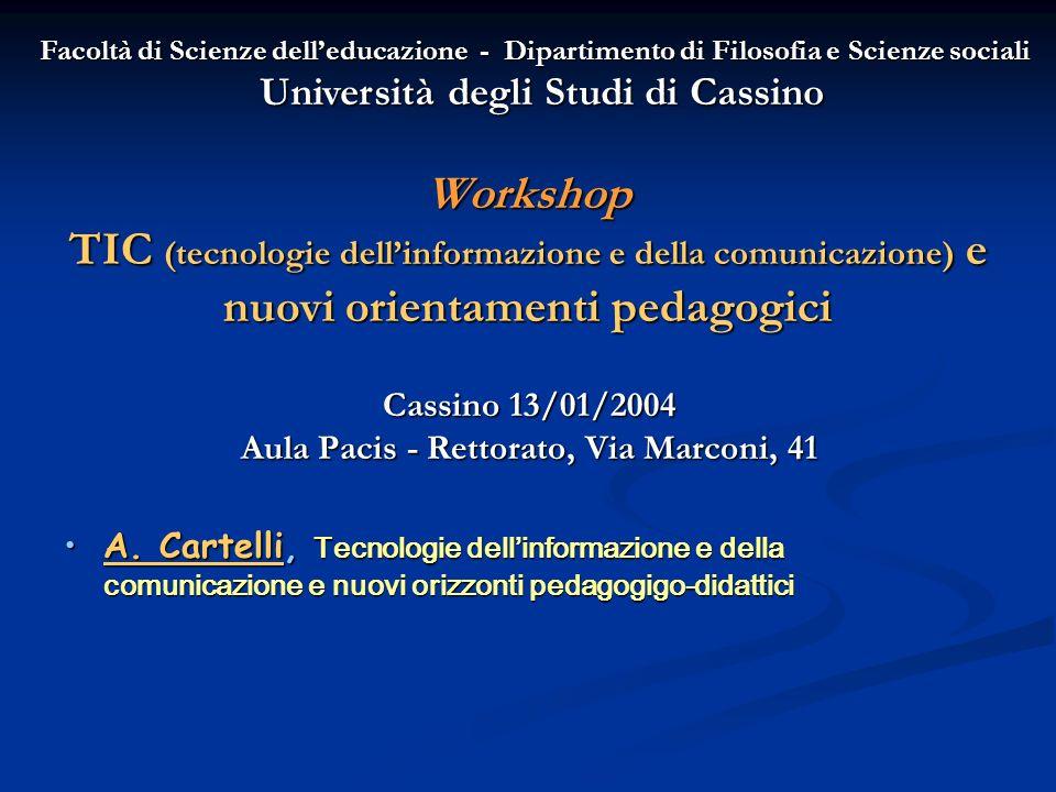 Cassino 13/01/2004 Aula Pacis - Rettorato, Via Marconi, 41