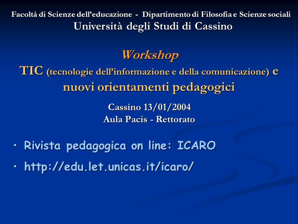 Cassino 13/01/2004 Aula Pacis - Rettorato
