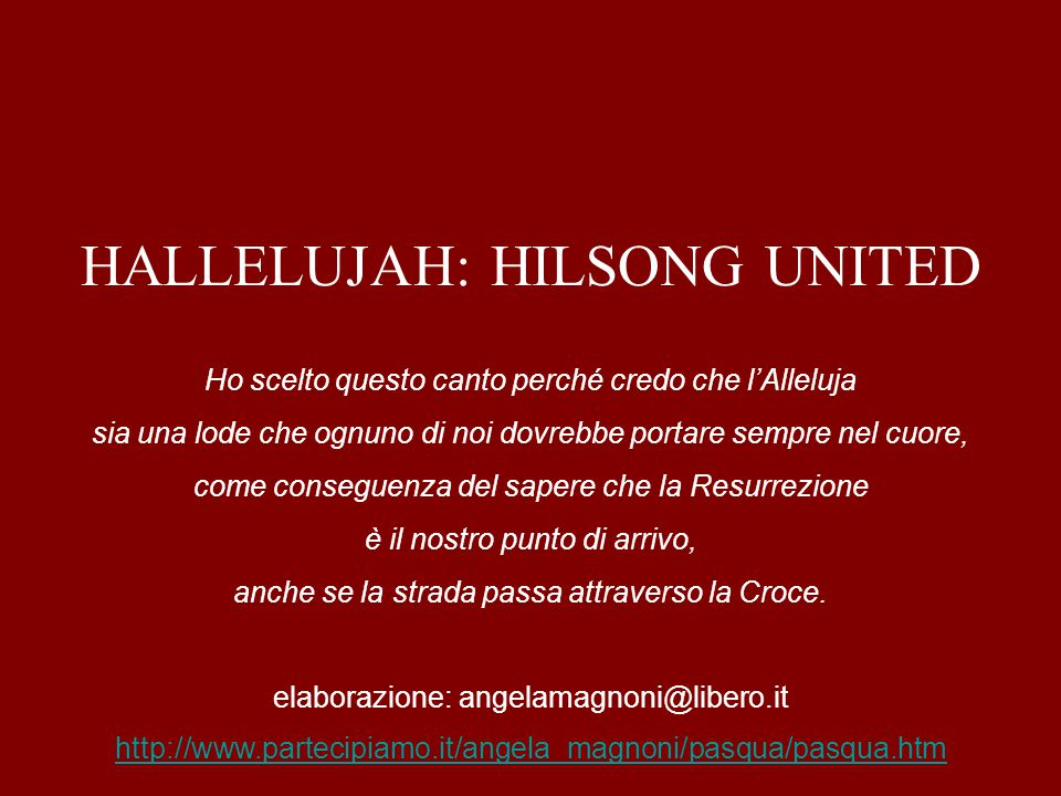 HALLELUJAH: HILSONG UNITED