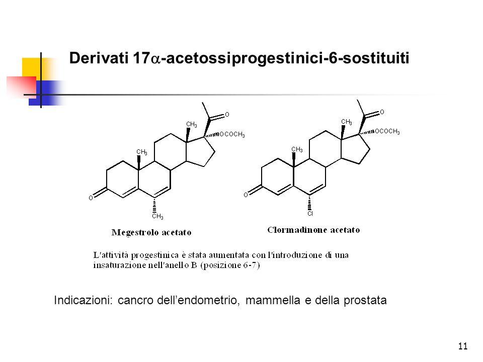 Derivati 17a-acetossiprogestinici-6-sostituiti