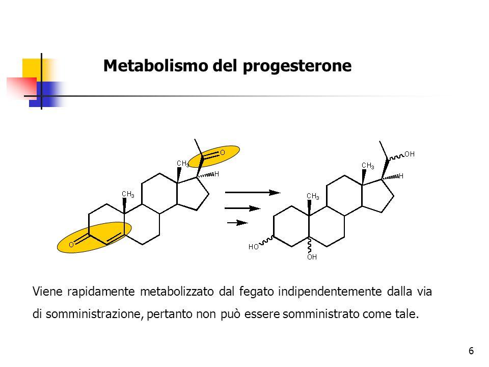 Metabolismo del progesterone