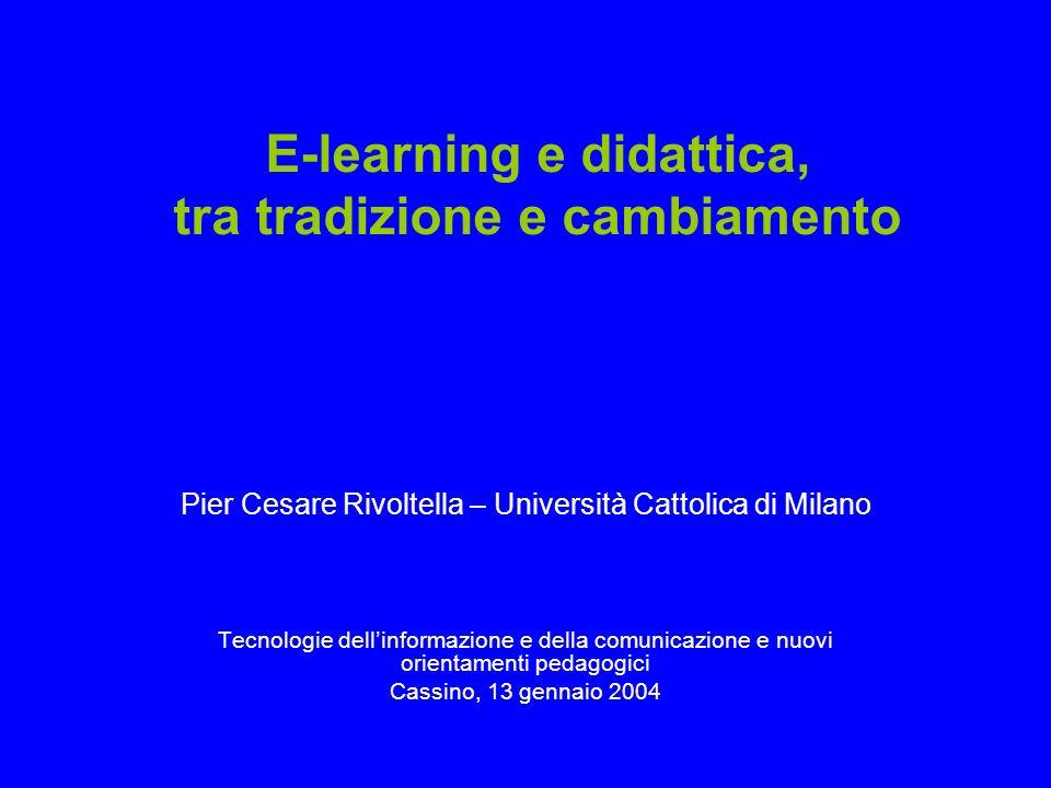 E-learning e didattica, tra tradizione e cambiamento