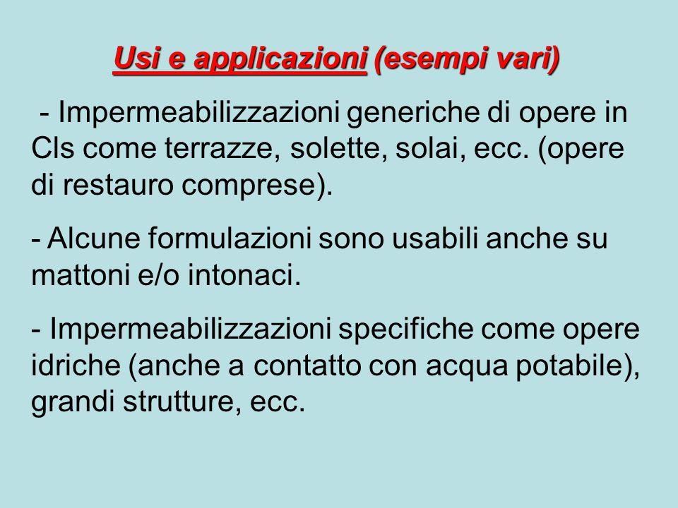 Usi e applicazioni (esempi vari)