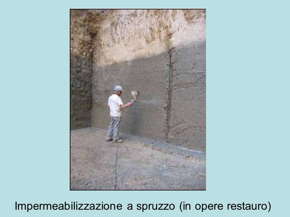 Impermeabilizzazione a spruzzo (in opere restauro)