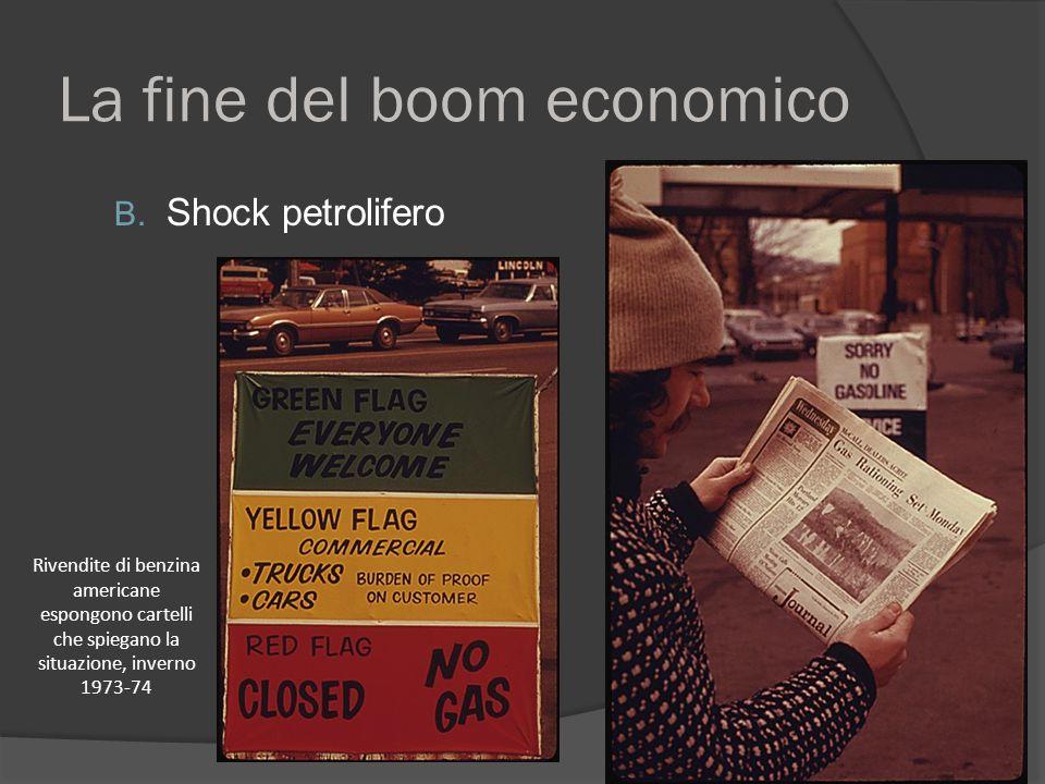 La fine del boom economico