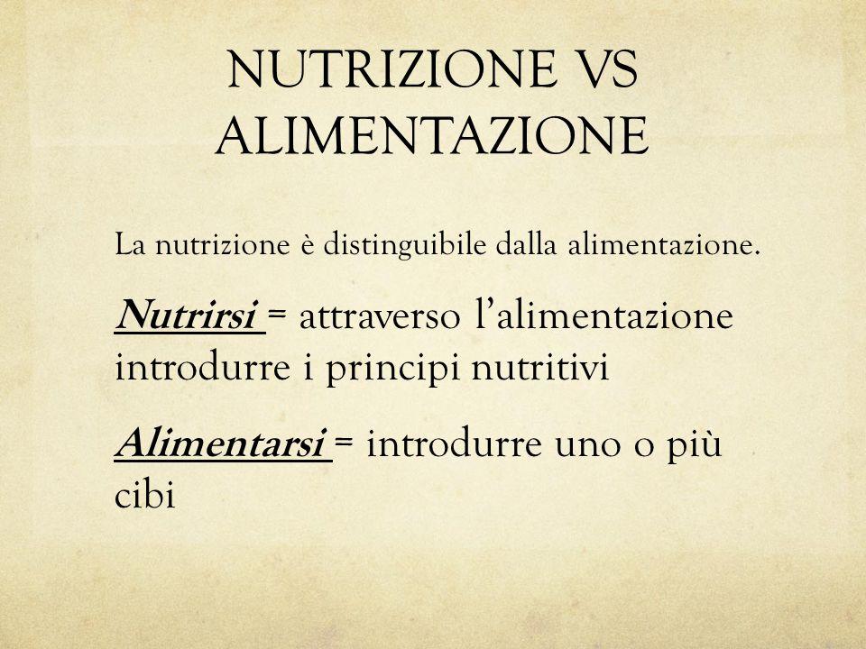 NUTRIZIONE VS ALIMENTAZIONE