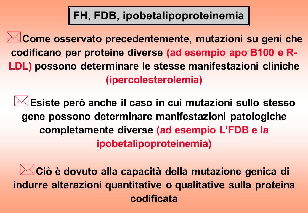FH, FDB, ipobetalipoproteinemia