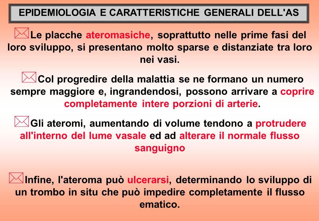 EPIDEMIOLOGIA E CARATTERISTICHE GENERALI DELL AS