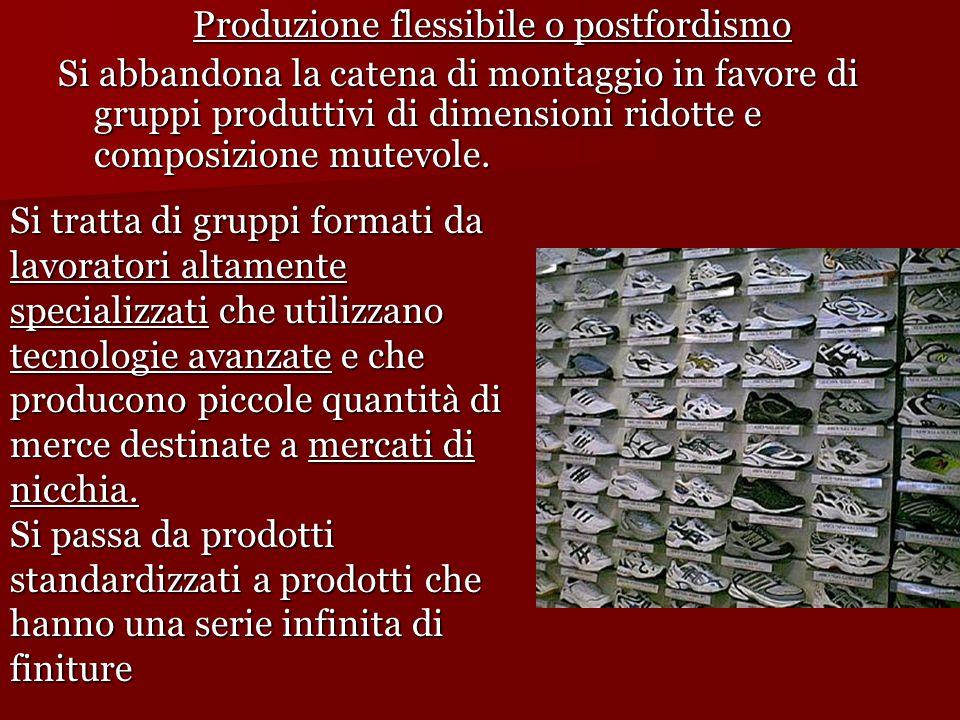 Produzione flessibile o postfordismo