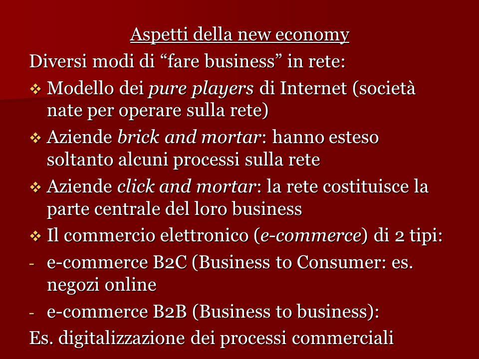 Aspetti della new economy