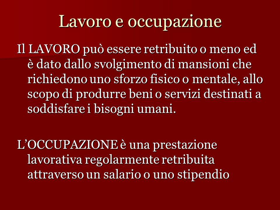 Lavoro e occupazione