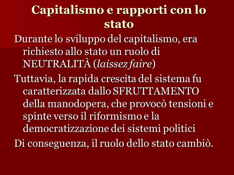 Capitalismo e rapporti con lo stato