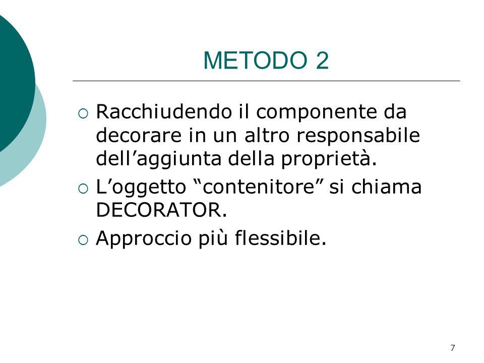 METODO 2 Racchiudendo il componente da decorare in un altro responsabile dell'aggiunta della proprietà.