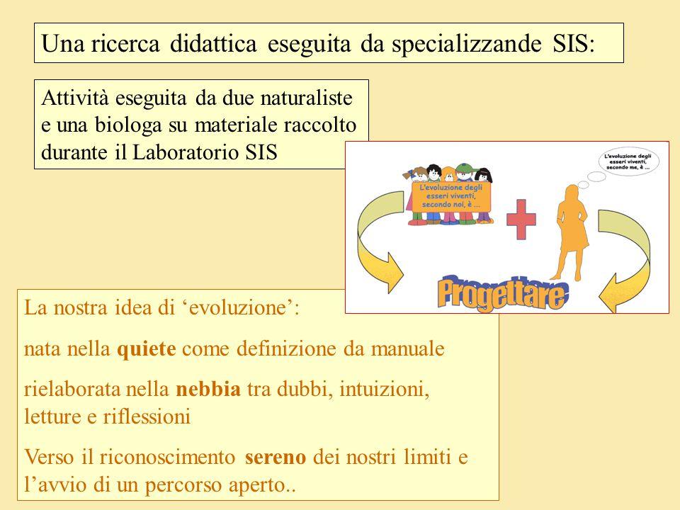 Una ricerca didattica eseguita da specializzande SIS: