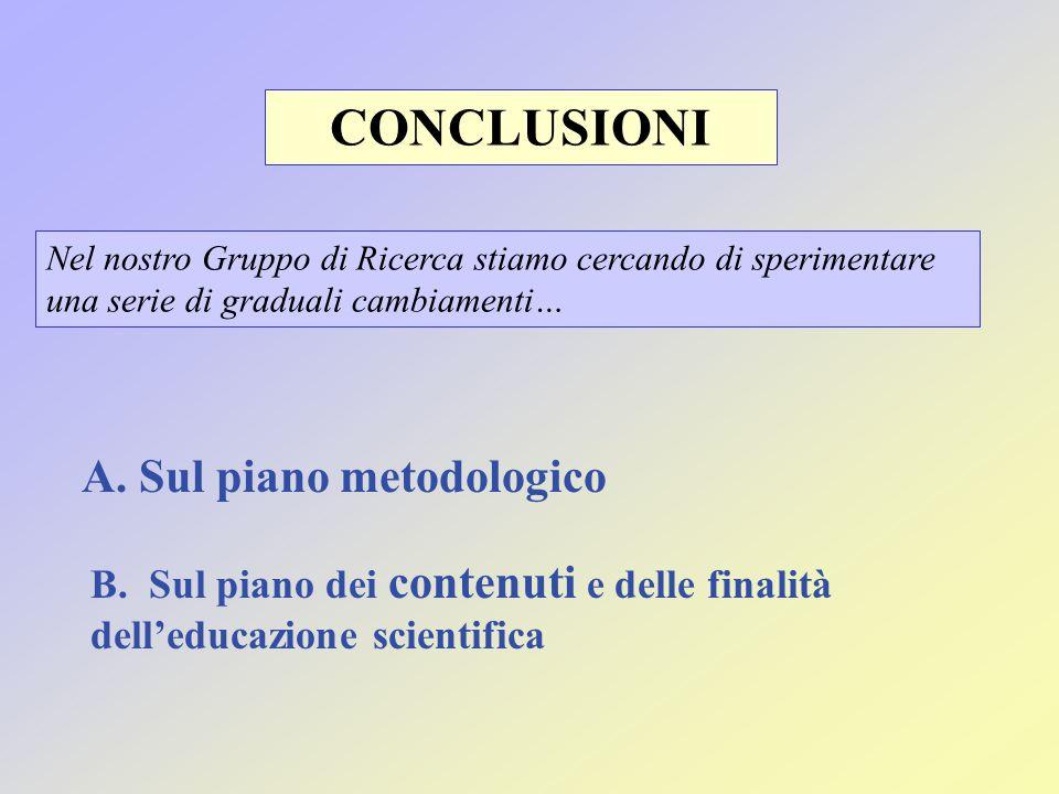 CONCLUSIONI A. Sul piano metodologico
