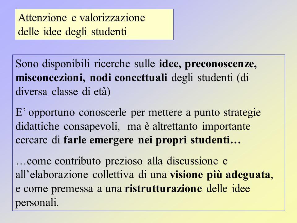 Attenzione e valorizzazione delle idee degli studenti